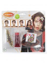 Kit trucco regina di cuori sanguinante adulto Halloween