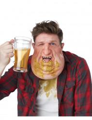 Mezza maschera doppio mento con vomito adulto