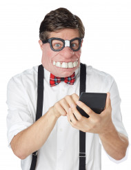 Mezza maschera geek adulto