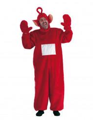 Costume da pupazzo-tv rosso per adulto
