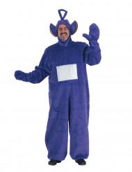 Costume da pupazzo-tv viola per adulto