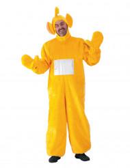 Costume da pupazzo-tv giallo per adulto