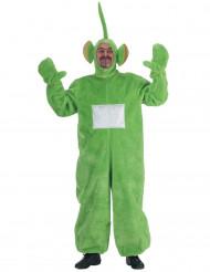 Costume da pupazzo-tv verde per adulto