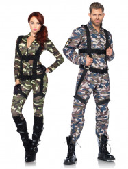 Costume coppia militari deluxe adulto