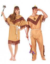 Costume coppia indiani bicolore adulto