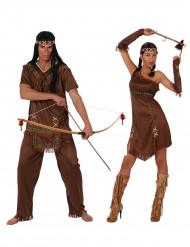 Costume coppia indiani marrone adulto