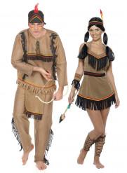Costume coppia indiani pellerossa adulto