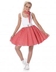 Costume anni 50' rosso a pois donna