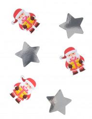 20 coriandoli giganti Babbo Natale 11 cm