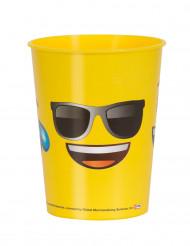 Bicchiere di plastica Emoji™ con occhiali da sole
