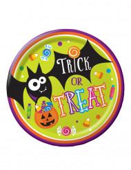 8 Piatti di carta Dolcetto o scherzetto - Halloween