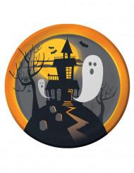 8 Piatti di carta Casa Stregata - Halloween