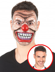 Maschera trasparente da clown terrificante per adulto