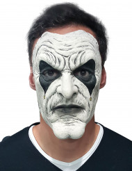 Maschera da rockstar  bianca e nera per adulto