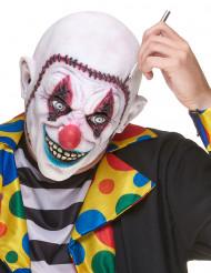 Maschera da clown terrificante con cranio ricucito