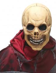 Maschera da teschio del terrore in lattice per adulto