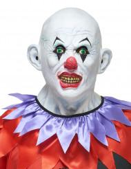 Maschera da clown sanguinario in lattice per adulto
