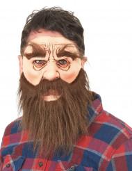 Maschera in lattice uomo barbuto adulto