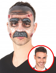 Maschera trasparente uomo baffuto adulto