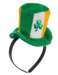Cerchietto cappellino Irlanda con trifoglio da adulta