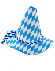 Cappello bavarese bianco e blu adulto