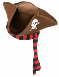 Cappello da pirata marrone adulto