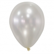 50 palloncini avorio metallizzati