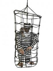 Decorazione di Halloween: scheletro in gabbia