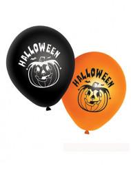 20 palloncini arancioni e neri zucca Halloween