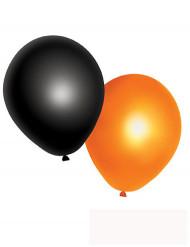 10 palloncini arancioni e neri Halloween
