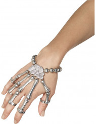 Bracciali e anelli scheletro adulto Halloween