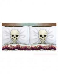 2 Copricuscini scheletro 58 x 80 cm halloween