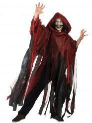 Mantello rosso e nero adulto Halloween