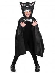 Mantello nero da gatto per bambino