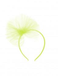 Cerchietto con fiocco di tulle verde per bambina