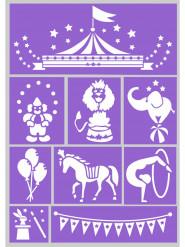 Stencil riutilizzabili trucco - Circus Grim Tout