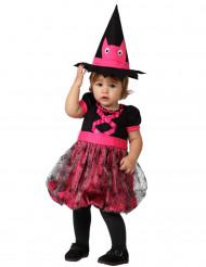Costume neonata strega rosa halloween