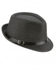 Cappello tipo borsalino grigio con fibbia per adulto