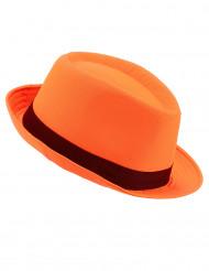 Cappello borsalino arancione adulto