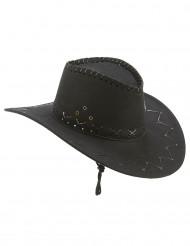 Cappello cowboy nero adulto