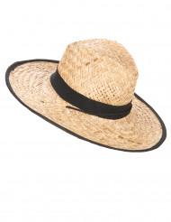 Cappello di paglia a falda larga
