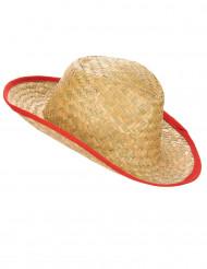 Cappello da cowboy in paglia per adulto