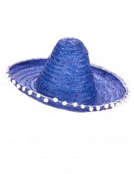 Sombrero messicano blu per adulto