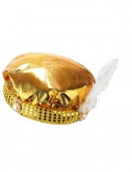 Copricapo turbante dorato sultano adulto