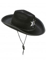 Image of Cappello da sceriffo nero adulta
