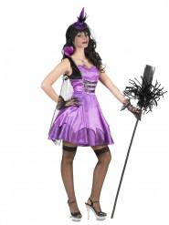 Costume vampiressa barocca viola donna Halloween