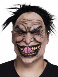 Maschera in lattice psicopatico con capelli per adulto