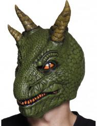 Maschera da dinosauro in lattice per adulto