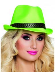 Cappello borsalino verde acido per adulto