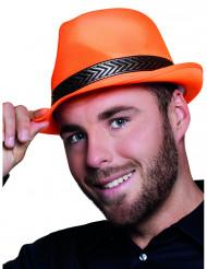 Cappello borsalino arancione per adulto